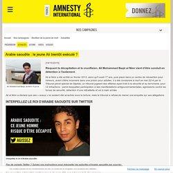 Arabie saoudite : le jeune Ali bientôt exécuté ?