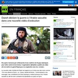 A vouloir jouer les Frankenstein .... l'Arabie Saoudite se retrouve le bec dans la sable ! Daesh déclare la guerre à l'Arabie saoudite dans une nouvelle vidéo d'exécution