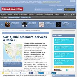 SAP ajoute des micro-services à Hana 2