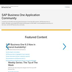Business One - SAP Developer Network
