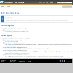 Business One - SAP Business One