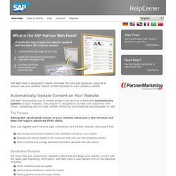 SAP - Help Center - Overview
