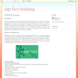 sap fico training: SAP FICO Training