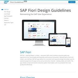Fiori Design Guidelines