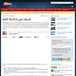SAP HANA gut check