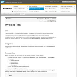 Plan de facturation achats