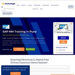 SAP MM Training in Pune