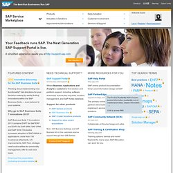 Welcome to the SAP Service Marketplace
