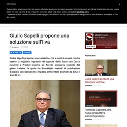 Giulio Sapelli propone una soluzione sull'Ilva - Il Mediterraneo