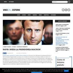 Sapir: Inizia la Presidenza Macron