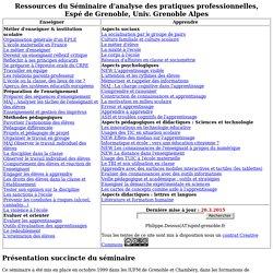 SAPP - Espé Univ. Grenoble Alpes - Ressources