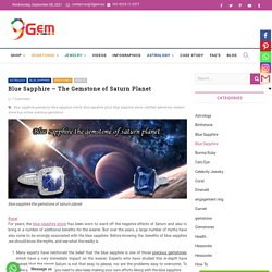 Blue Sapphire - The Gemstone of Saturn Planet -9Gem.eu