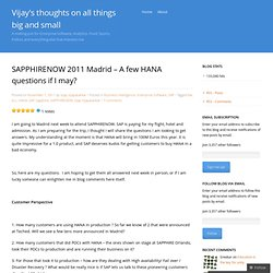 Vijay's thoughts on all things big and small