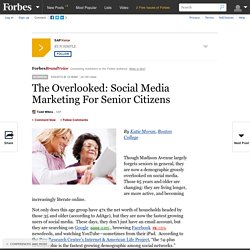 SAPVoice: The Overlooked: Social Media Marketing For Senior Citizens