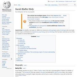 Sarah Blaffer Hrdy - Wikipedia