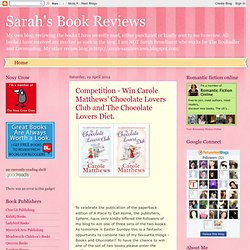 Sarah's Book Reviews