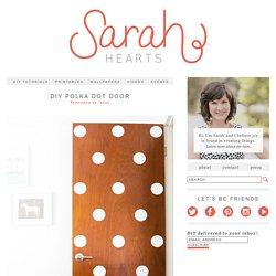 Sarah Hearts - DIY Polka Dot Door