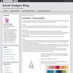 Sarah Hodges Blog: All Saints - Trend analysis