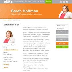 Sarah Hoffman - Alberta NDP