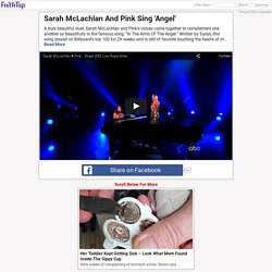 "Sarah McLachlan's duet of ""Arms Of The Angel"" with Pink left the audience in awe."