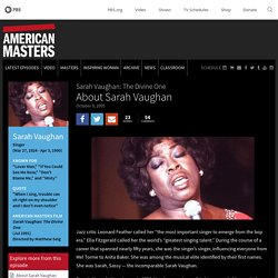 About Sarah Vaughan