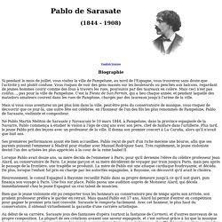 Pablo de Sarasate (Version français)