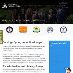 Saratoga Springs Adoption Lawyer