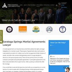 Saratoga Springs Marital Agreements Lawyer
