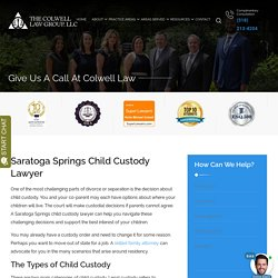 Saratoga Springs Child Custody Lawyer