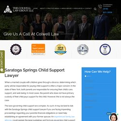 Saratoga Springs Child Support Lawyer