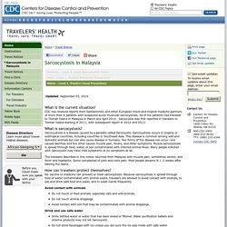 CDC 06/11/12 Sarcocystosis in Malaysia