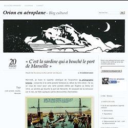 « C'est la sardine qui a bouché le port de Marseille »