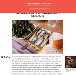 Fisch mal anders in der Sardinen.Bar in Schöneberg