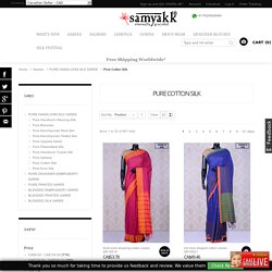 Sober pure cotton silk sarees in refreshing variations in motif designs and patterns are the wardrobe essentials to beat the summers in style. Checkout the contemporary collections of cotton sarees at samyakk online.