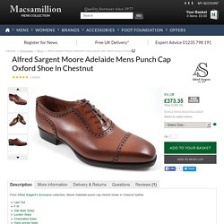 Alfred Sargent Moore Adelaide mens punch cap Oxford shoe for men in Chesnut from Macsamillion of Oxford