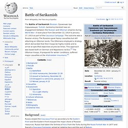 Battle of Sarikamish