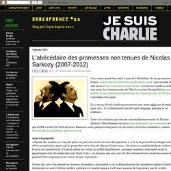L'abécédaire des promesses non tenues de Sarkozy