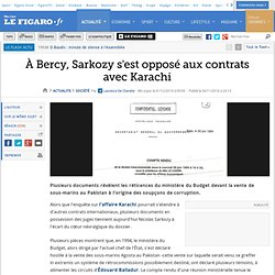 France : Karachi : les documents qui exonèrent Sarkozy