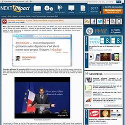 Sarkozy et Hadopi : Lionel Tardy maintient ses propos (MàJ)