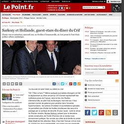 Sarkozy et Hollande, guest-stars du dîner du Crif