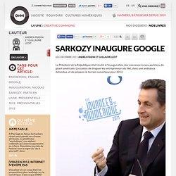 Sarkozy inaugure Google