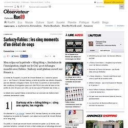 Sarkozy-Fabius: les cinq moments d'un débat de coqs