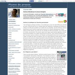 La presse etrangere et le President francais