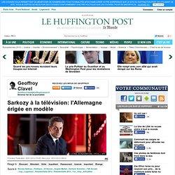 Sarkozy à la télévision: l'Allemagne érigée en modèle