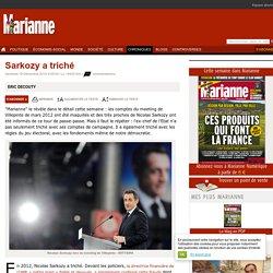 Sarkozy a triché