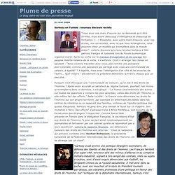 Sarkozy en Tunisie : nouveau discours raciste