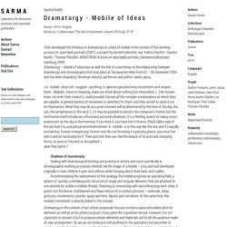 : Dramaturgy - Mobile of Ideas
