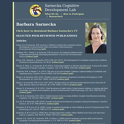 Sarnecka Cognitive Development Lab