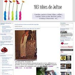 Tous les patrons et tutos:sarouels,thaï, jupe,bijo - Combinaison de… - Lacroix ..sans la… - Photo mystère:fin… - Des patrons et… - Yukata Kimonos… - L'attache cheveux… - Tutorial :Le sac de… - Le patron du… - Le tutorial du… - Les patrons et… - 103 idées