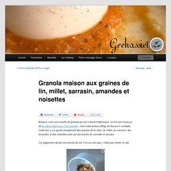 Granola aux flocons de céréales, graines de lin, millet, sarrasin, amandes et noisettes